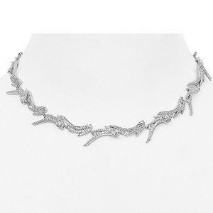 NWT Kendra Scott Rhodium CLEO CZ Collar Necklace